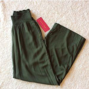 NWT Sunny Leigh palazzo pants - Olive